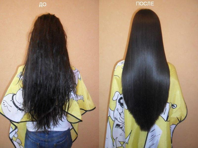 Выравнивать волосы домашних условиях